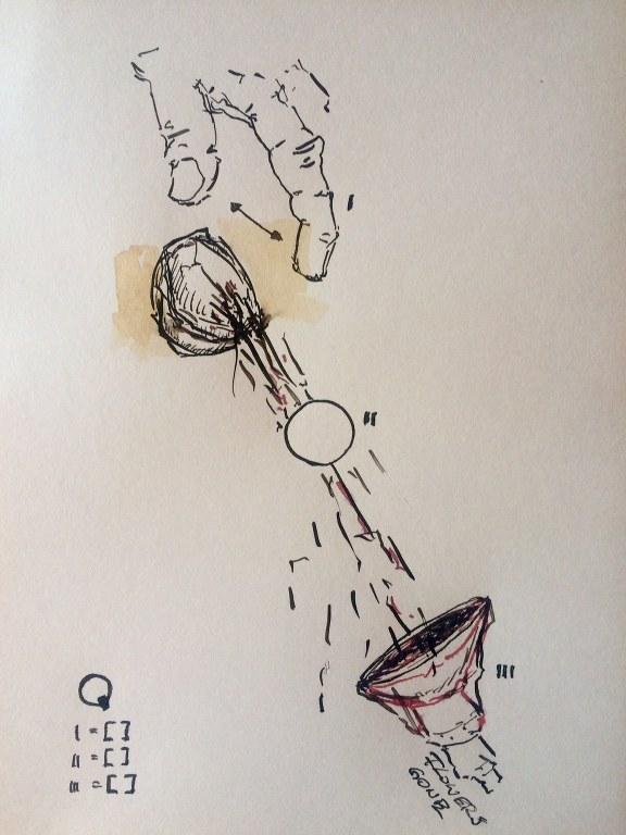 Weggegossen No. 6 (c) Zeichnung von Jürgen Küster