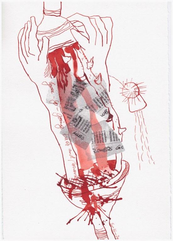 Weggegossen No. 6 (c) Zeichnung von Susanne Haun