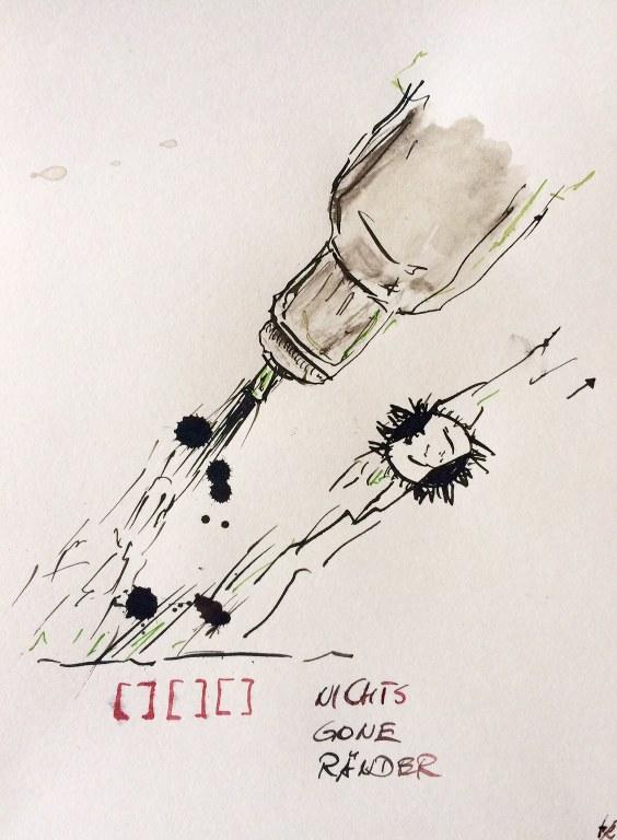 Weggegossen No. 7 a  (c) Zeichnung von Jürgen Küster
