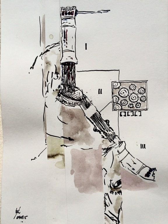Weggegossen No. 9 (c) Zeichnung von Jürgen Küster