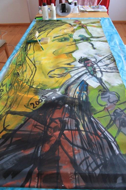 Libellenflug Nr. 2 - 2005 (c) Leinwand von Susanne Haun