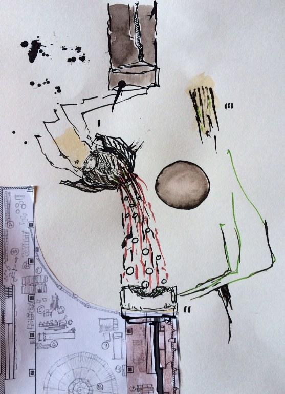 Weggegossen No. 23 b (c) Zeichnung von Jürgen Küster (2)