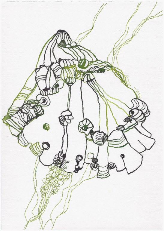 Weggegossen No. 23 c (c) Zeichnung von Susanne Haun
