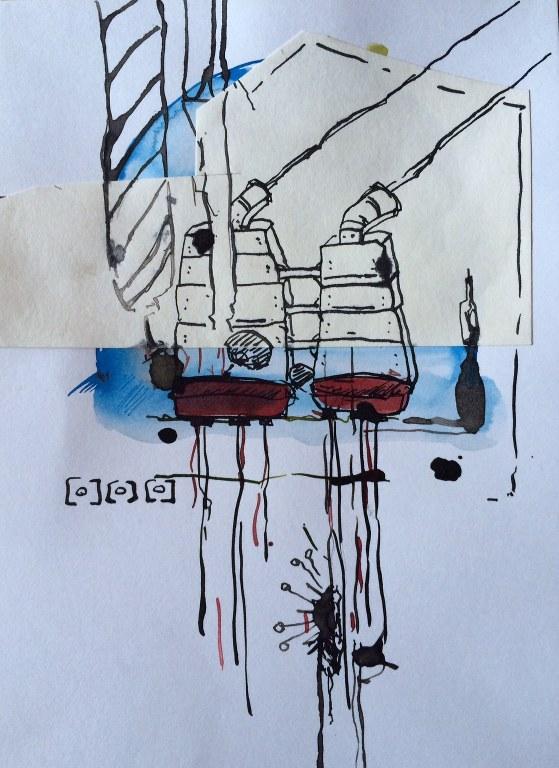 Weggegossen No. 23 e (c) Zeichnung von Jürgen Küster (5)
