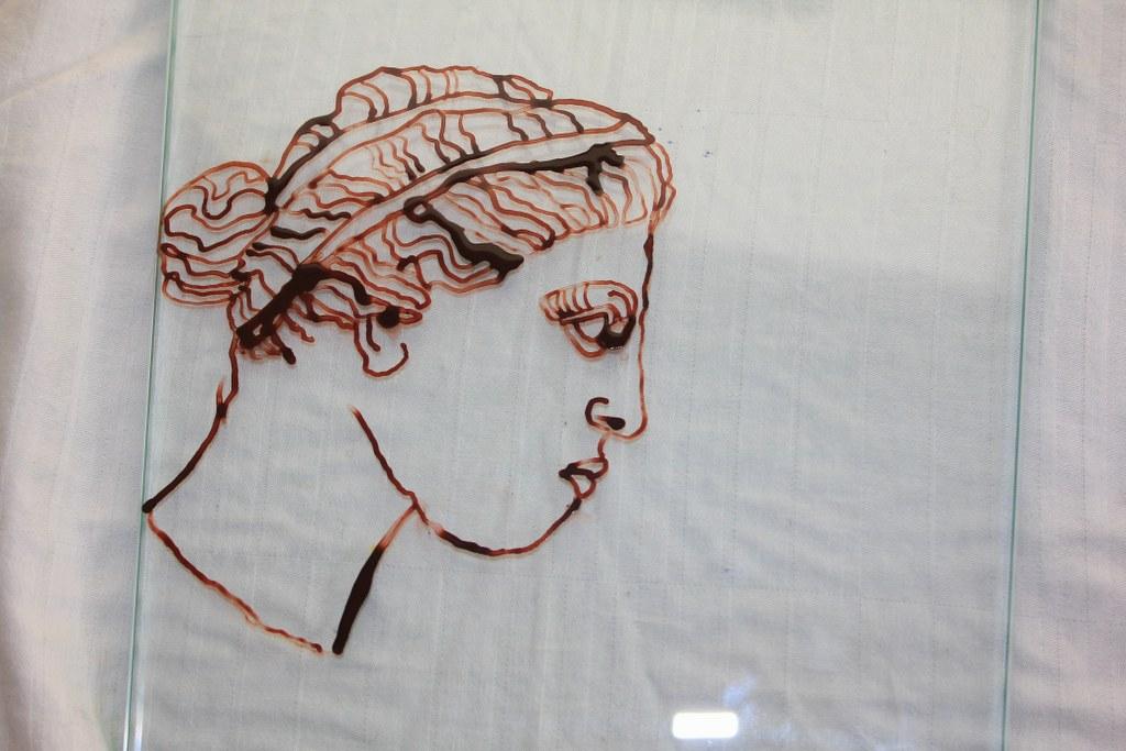 Entstehung Venus - Zeichnung auf Glas (c) Objekt von Susanne Haun