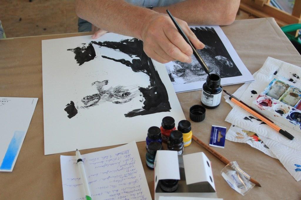 Schraffurübungen nach Morandi und Kollwitz (c) Fotos von Susanne Haun (1)