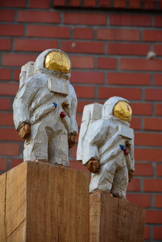 Die Astronauten weisen den Weg zur Berlinischen Galerie (c) Foto von M.Fanke