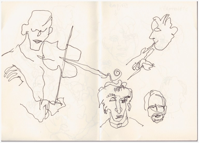 Fernsehkonzert (c) Zeichnung von Susanne Haun