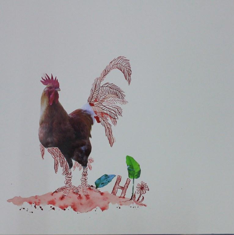 Entstehung Hahn für die Kleinsten (c) Collage von Susanne Haun