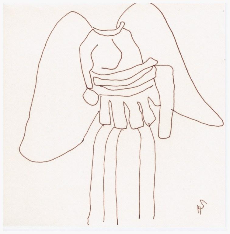 Aus der Abgusssammlung (c) Zeichnung von Susanne Haun