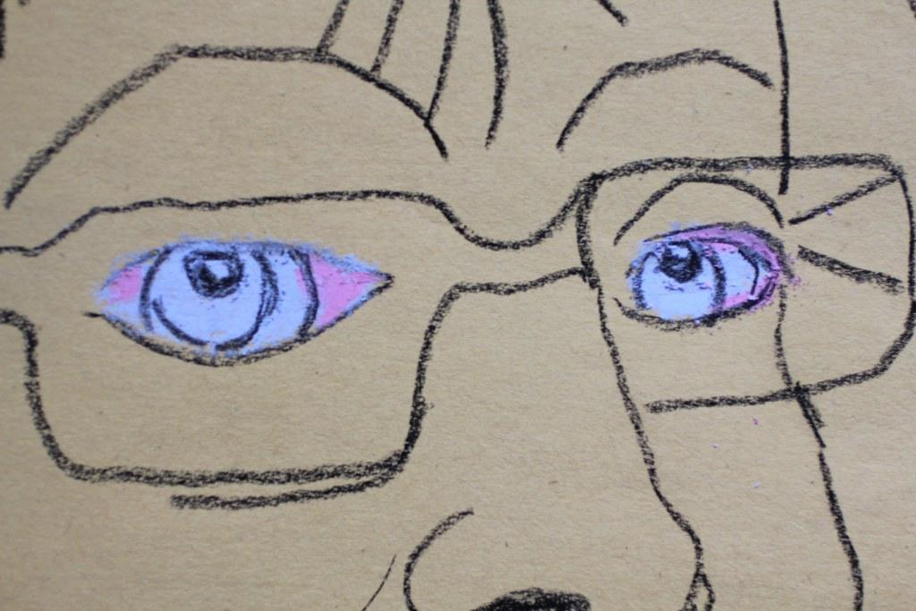 Entstehung des Ich Augen - Pastell - 30 x 40 cm (c) Zeichnung von Susanne Haun