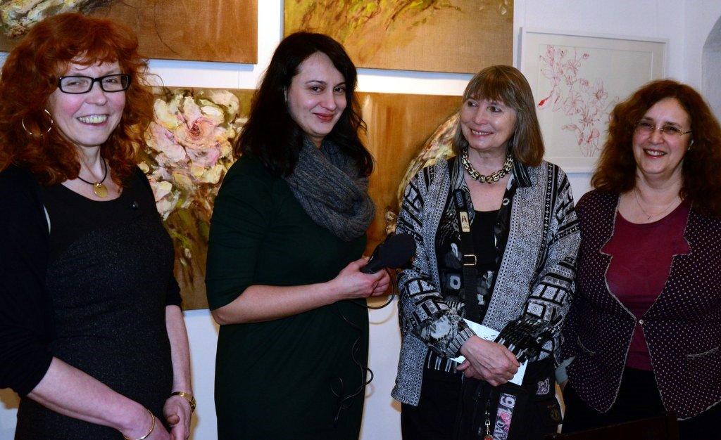 Vernissage Ideale der Schönheit in der Galerie Vinogradov - Interview (c) Foto von M.Fanke