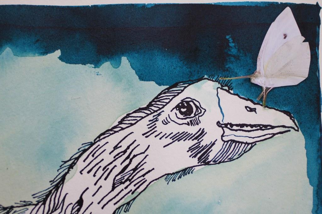 Sehgewohnheiten der Kleinsten – Gans Version 2 (c) Collage von Susanne Haun