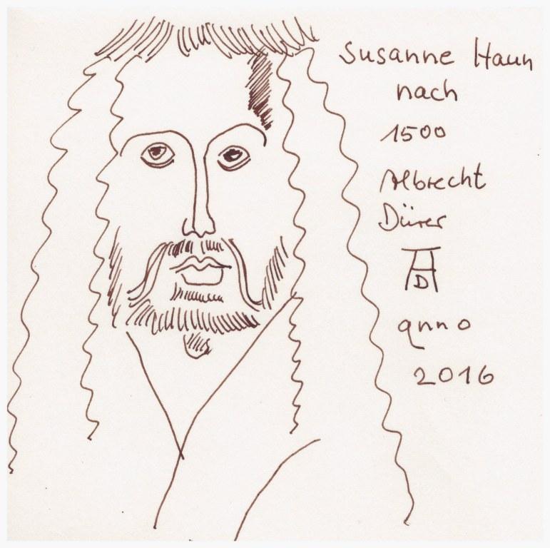 Albrecht Dürer (c) Zeichnung von Susanne Haun