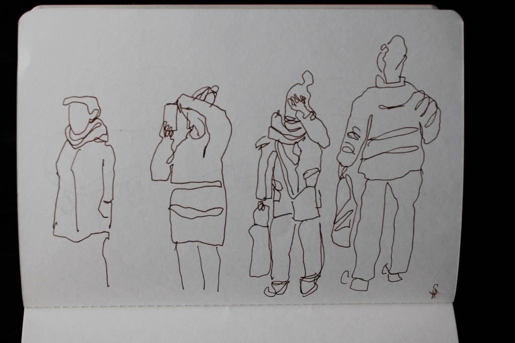 In Amsterdam (c) Zeichnung von Susanne Haun