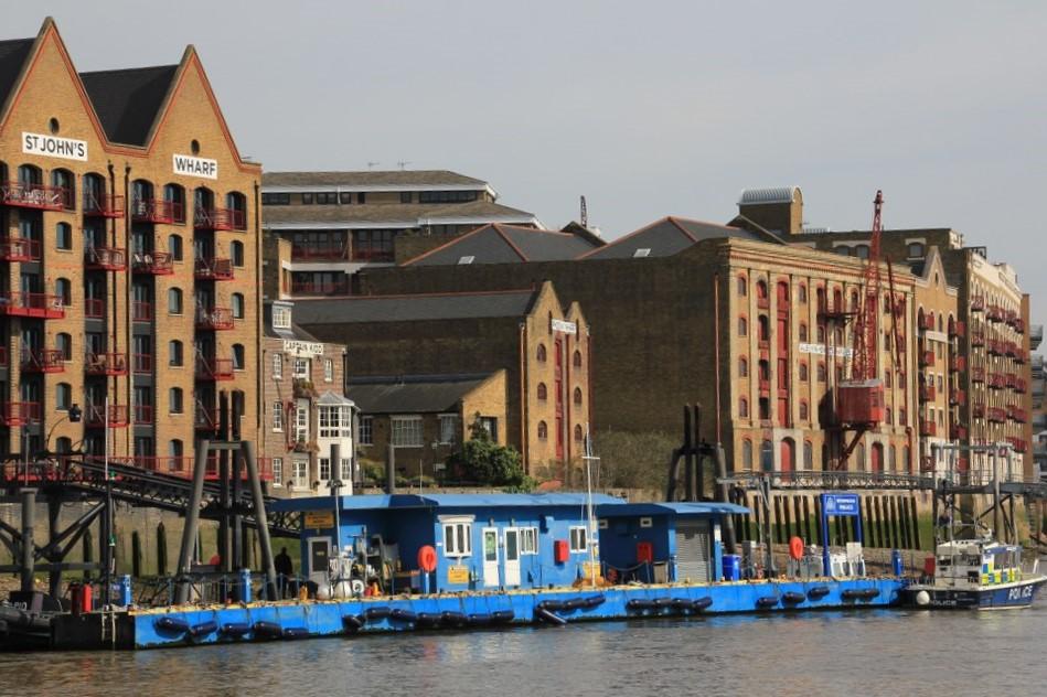 Ehemalige Speicher an der Themse London (c) Foto von Susanne Haun