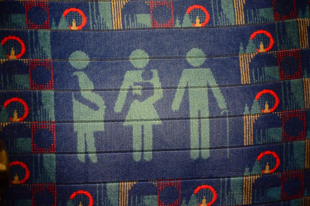Textile Kunst in der Underground auf dem Weg in die British Library (c) Foto von M.Fanke