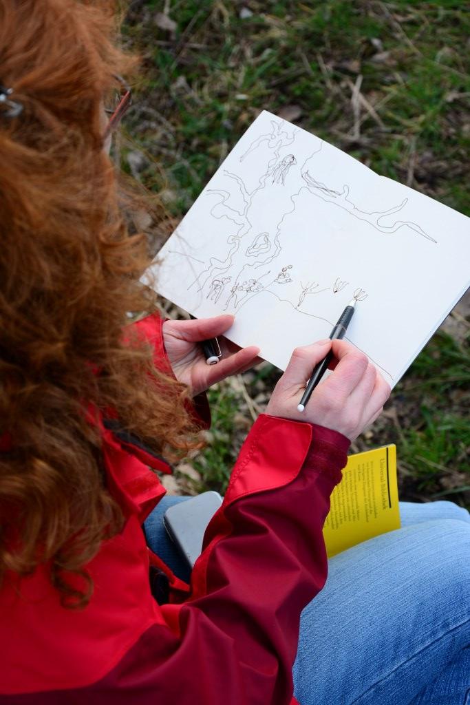 Zeichnen in Hampstead Heath (c) Foto von M.Fanke