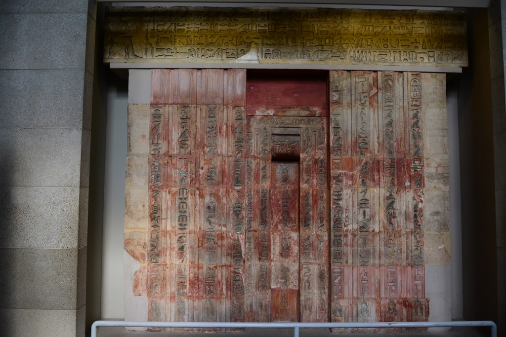 Limestone false door of Ptahshepses im British Museum (c) Foto von M.Fanke