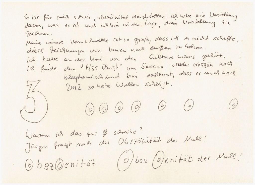 #59.3 Die Obzönität der Null (c) Zeichnung von Susanne Haun