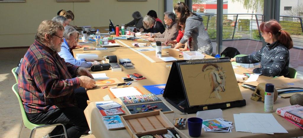 Workshop Portrait in Pastell (c) Foto von Susanne Haun