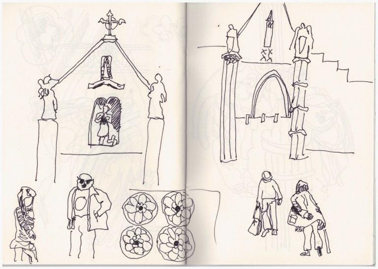 Norwich Cathedral (c) Zeichnung von Susanne Haun