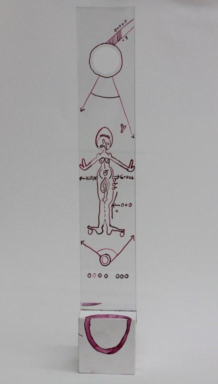 #66.8 Detail die Obszönität der Vermessung der Null (c) Glasobjekt von Susanne Haun