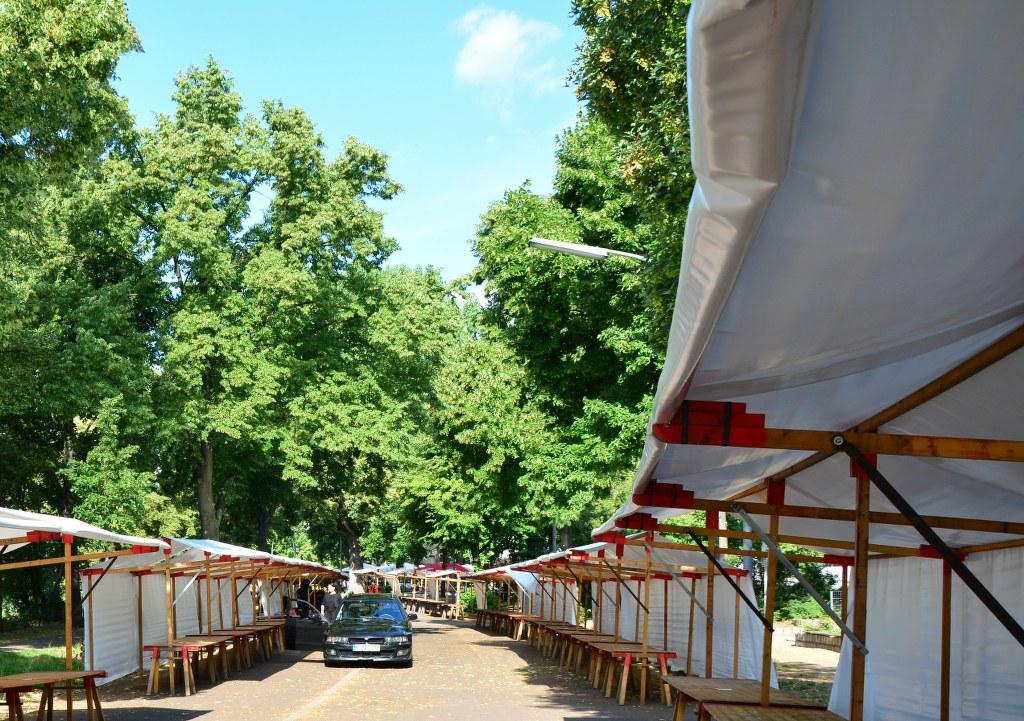Vor dem Aufbau Weddingmarkt 3. Juli 2016 (c) Foto von M.Fanke