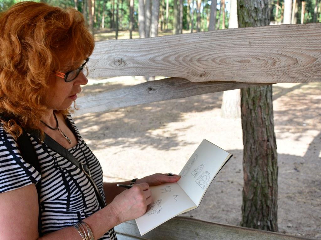 Zeichnen im Wildpark Johannismühle (c) Foto von M.Fanke