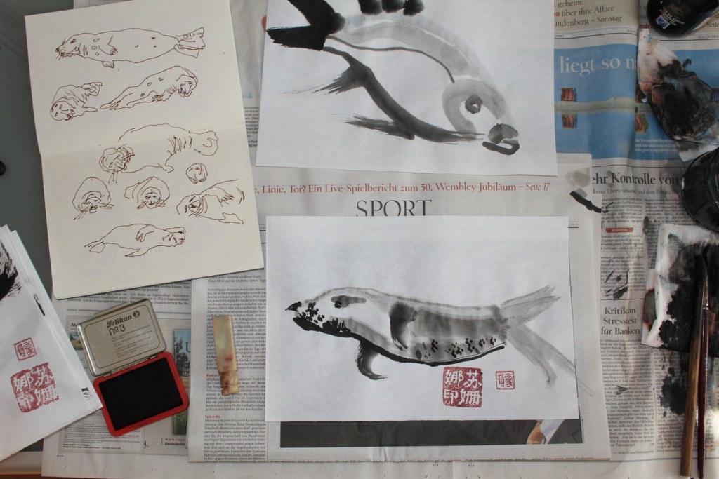 Entstehung Seehund (c) Foto von Susanne Haun