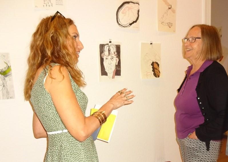 Impressionen von der Ausstellung Wegschütten, Cristina Wiedebusch (c) Foto von Susanne Haun