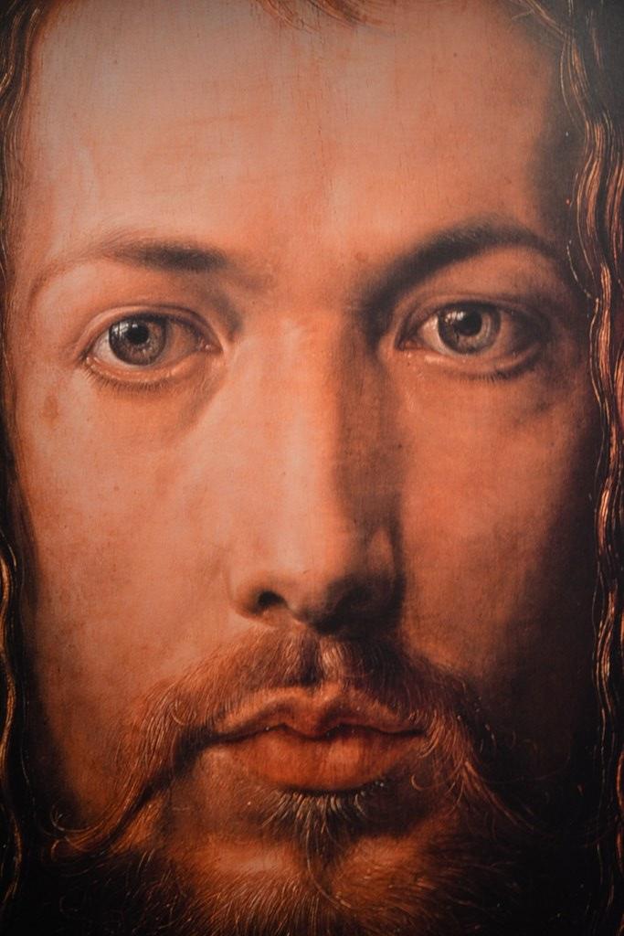Poster mit Dürers Selbstportrait Im Dürer Haus (c) Foto von M.Fanke