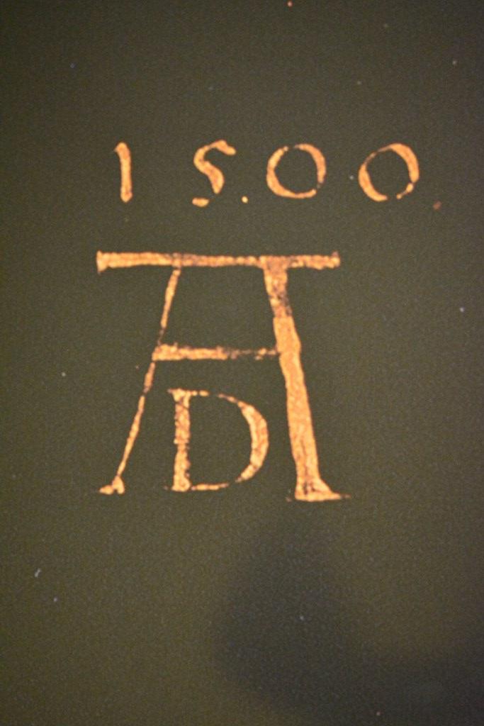 Die berühmte Signatur auf dem Poster im Dürerhaus (c) Foto von M.Fanke