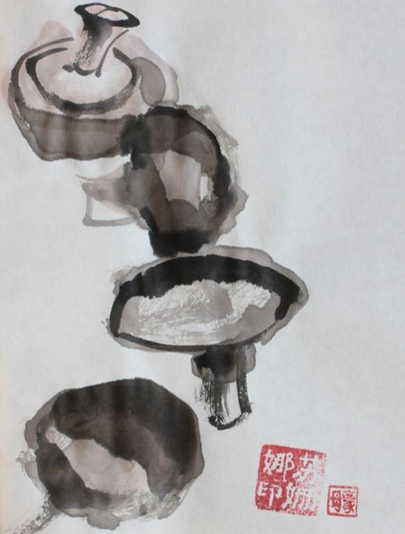 Pilze (c) Zeichnung von Susanne Haun