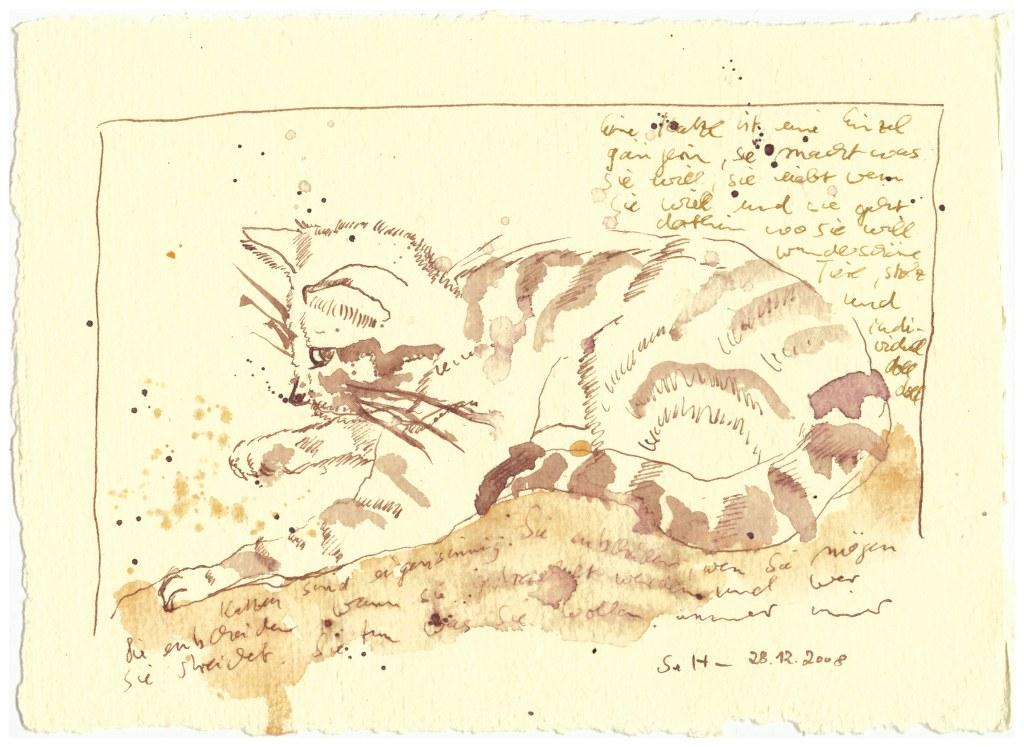 Weihnachtsangebot Katzenliebe (c) Zeichnung von Susanne Haun