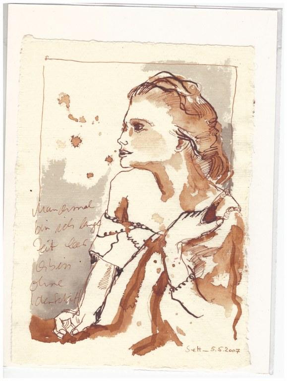 12 Weihnachtsangebot - Duras - Manchmal bin ich lange Zeit leer (c) Zeichnung von Susanne Haun