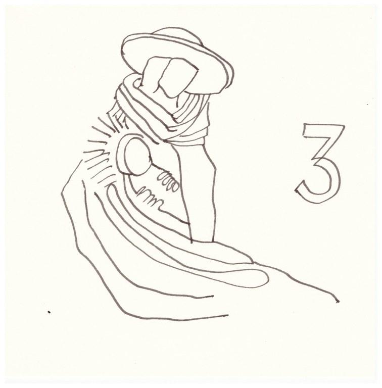 Flucht nach Ägypten (c) Zeichnung von Susanne Haun