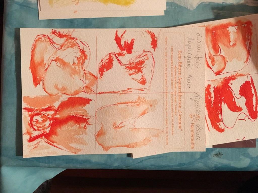 Ergebnisse vom Workshop Zeichnen in der Nazarethkirche (c) Foto von Susanne Haun