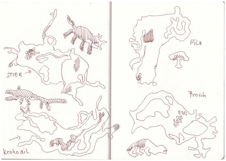 1 Bleigiessen (c) Zeichnung von Susanne Haun