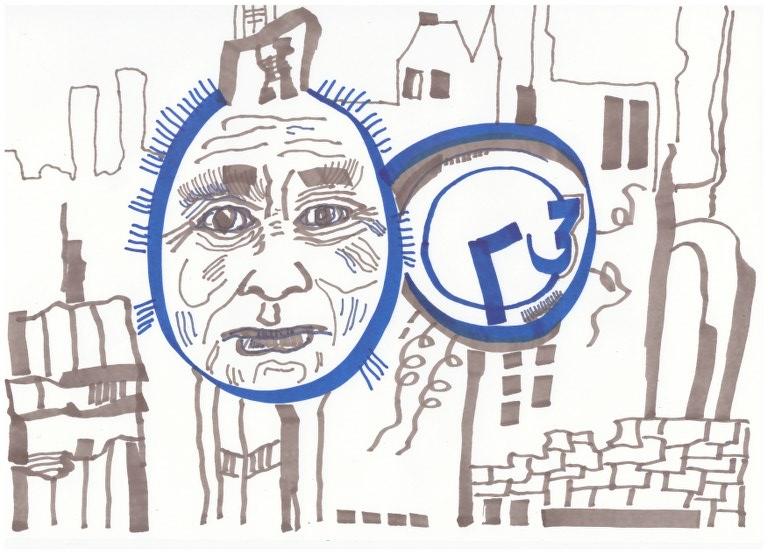 1 Die Kuechenuhr - innerlich ist sie kaputt (c) Zeichnung von Susanne Haun