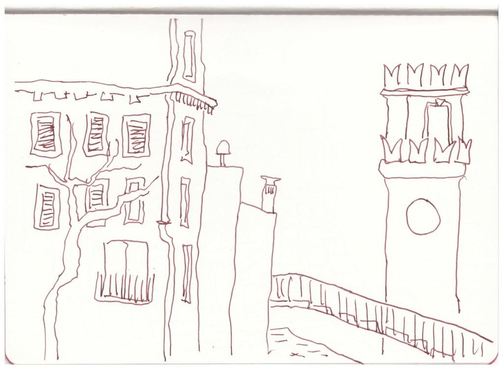 Venedig 2016 (c) Zeichnung von Susanne Haun