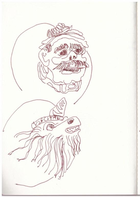 15 Venedig 2. Skizzenbuch (c) Zeichnung von Susanne Haun