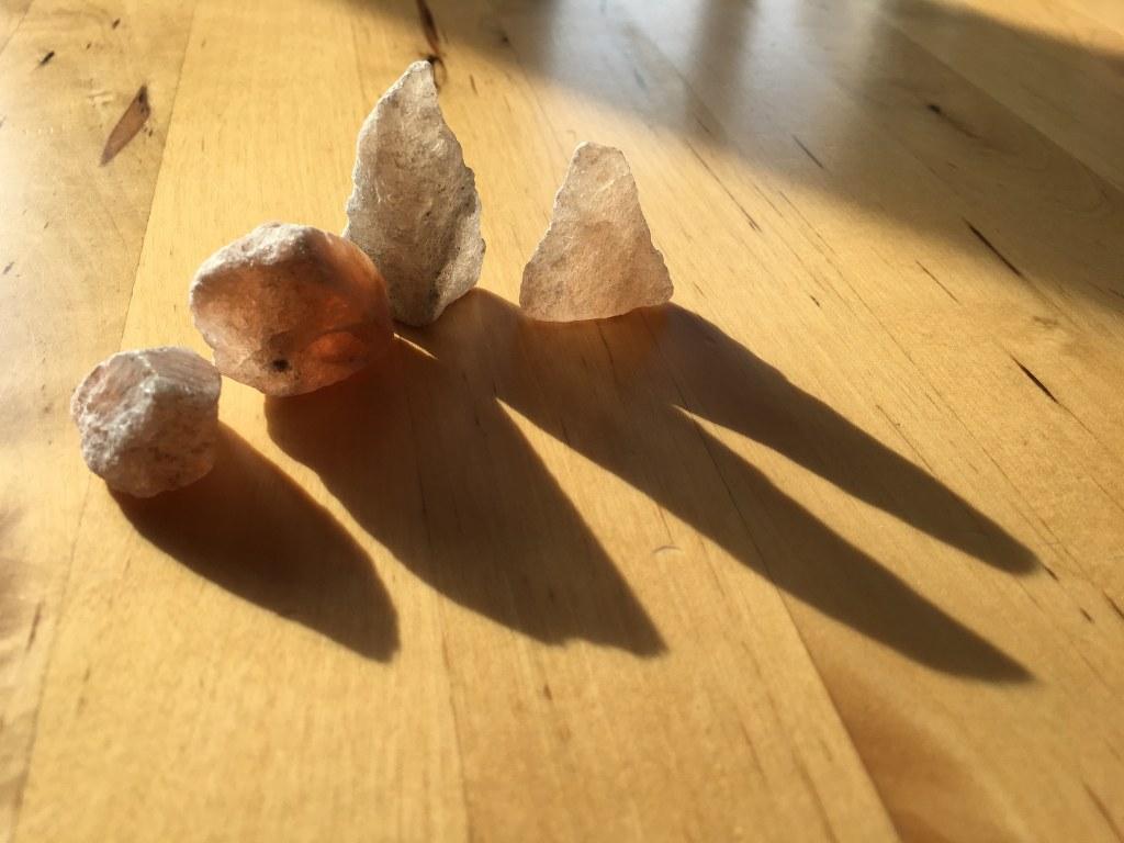 Salzkristalle - Beute von der ITB (c) Foto von Susanne Haun