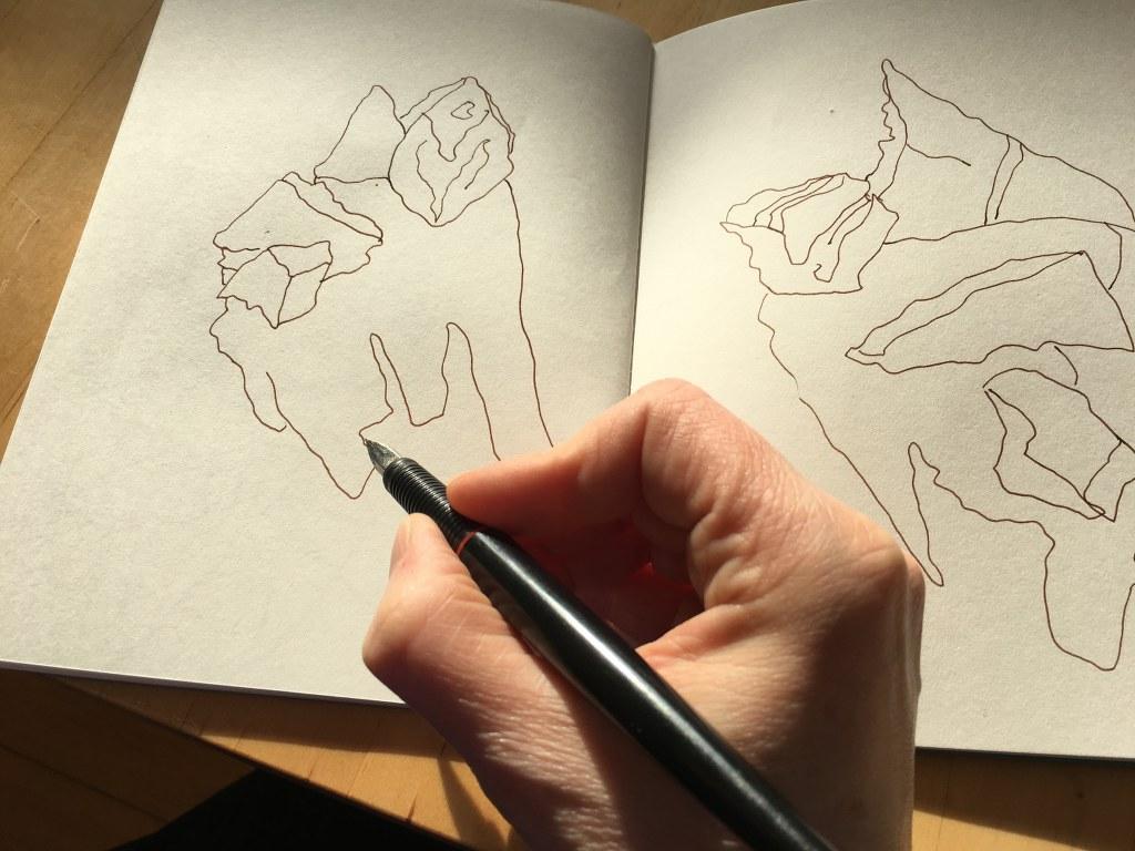 Salzkristalle zeichnen - Beute von der ITB (c) Foto von Susanne Haun