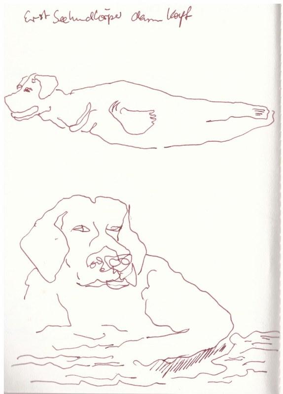 Der Hundemann und Uinigumasuittuq (c) Zeichnung von Susanne Haun