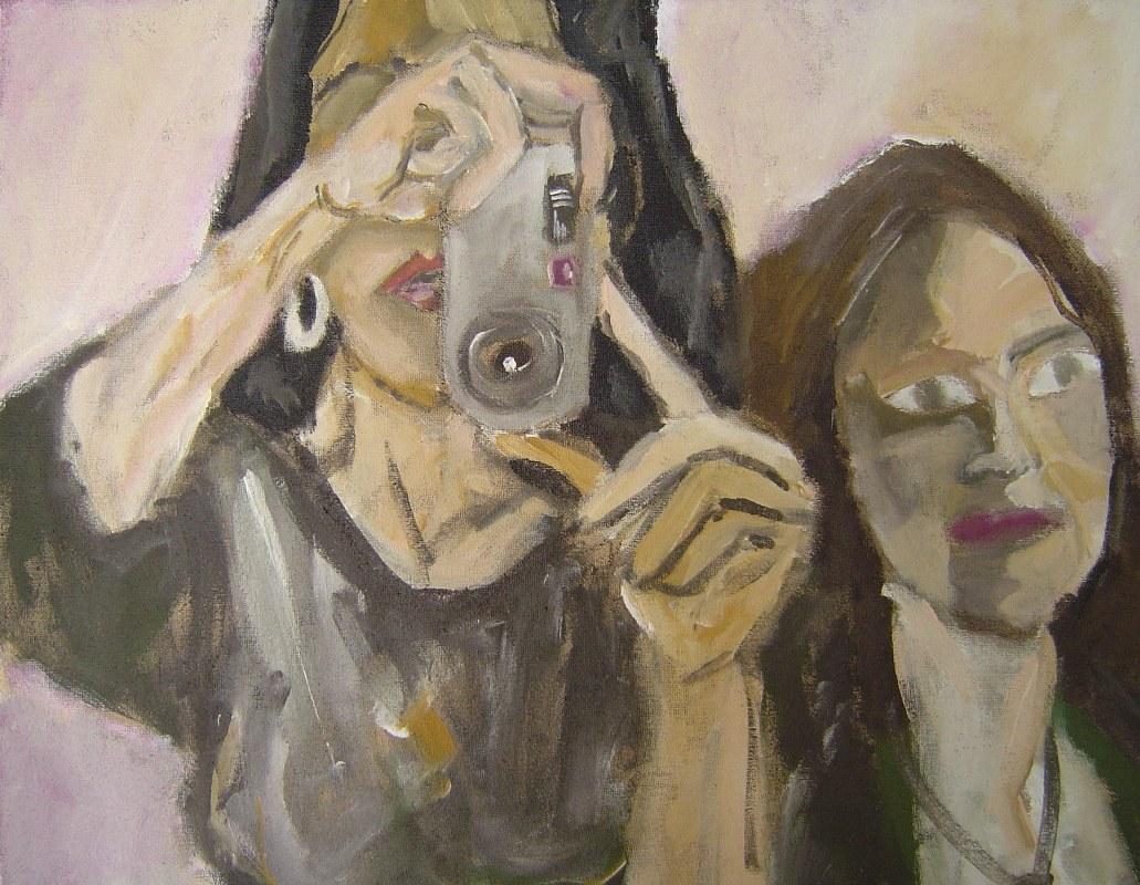 Der Augenblick - Juli 2006 - 70 x 100 cm - Acryl auf Leinwand, Gemälde von Susanne Haun - Sammlung Claudia Jahnke (c) VG Bild-Kunst, Bonn 2019
