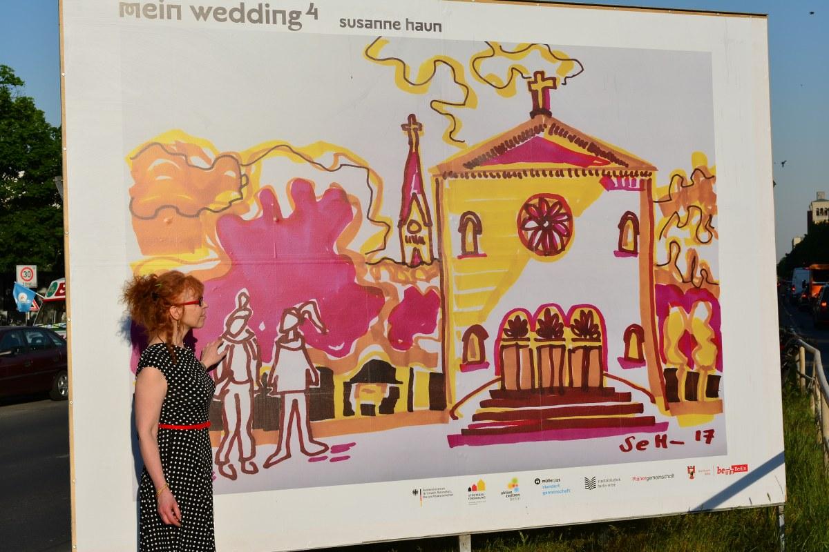 Open Air Gallery mein wedding 4 - Leopoldplatz Susanne Haun (c) Foto von M.Fanke