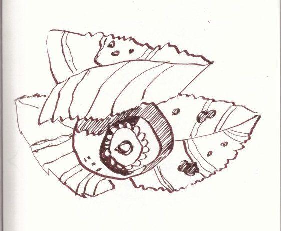 Blaubeeren - Berchtesgadener Land (c) Zeichnung von Susanne Haun