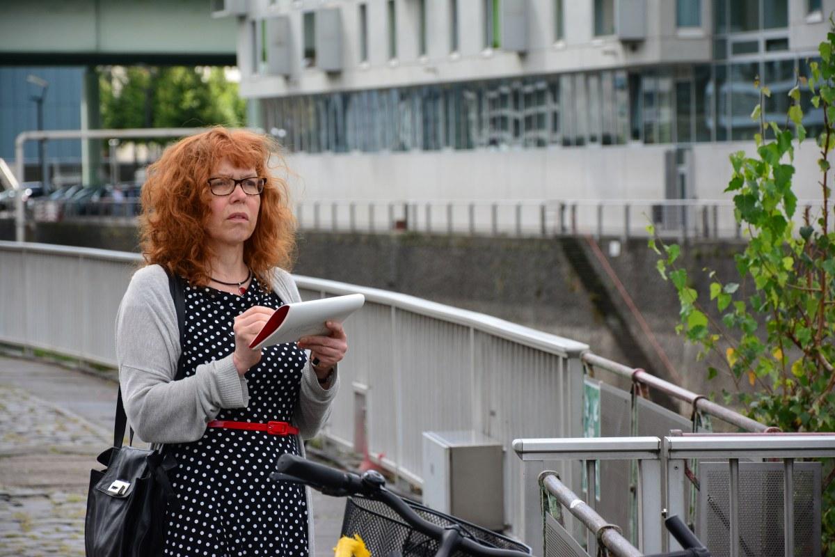 Susanne Haun in Köln im Zollhafen (c) Foto von M.Fanke