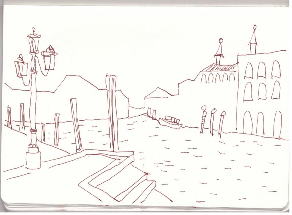 Venedig Canal Grande 2016 (c) Zeichnung von Susanne Haun